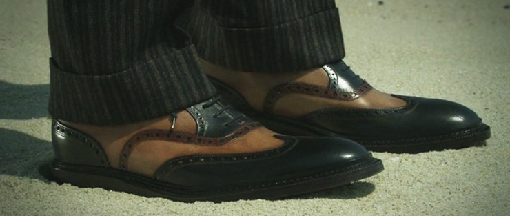 The Nucky Thompson Shoes of Boardwalk Empire opening Sequence