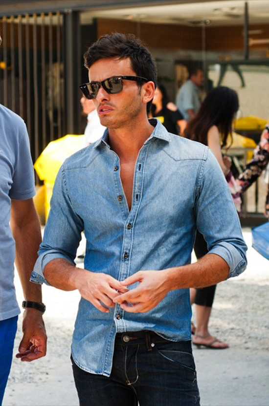 The Jean Shop Dark Denim Shirt Pictures To Pin On Pinterest