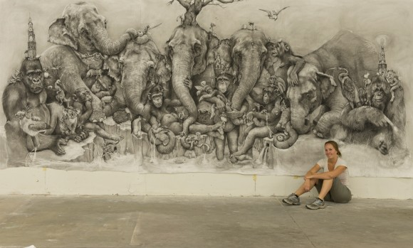 71c332e567e962 Adonna Khare s 288sqft Animal Kingdom Mural