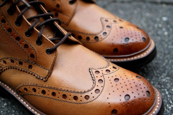 Badass lace-up wingtip ankle boots by Grenson