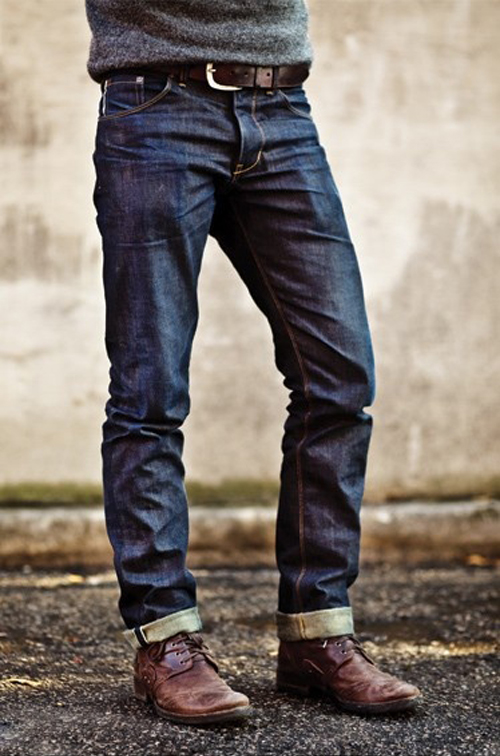 mens cuffed jeans - Jean Yu Beauty