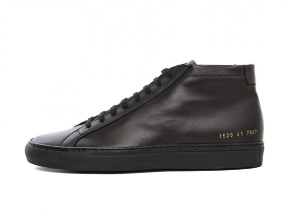 designer sneakers Common Projects 'Achilles' Mid in black