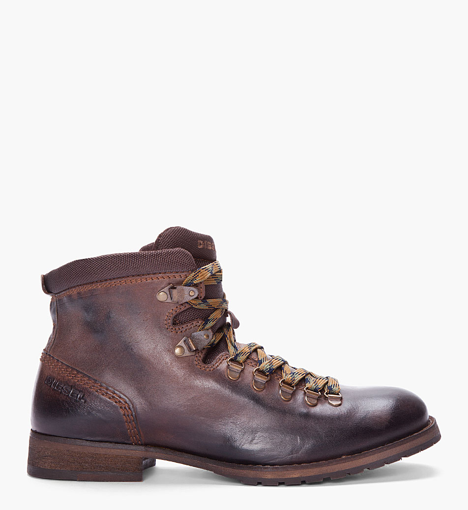 burnished chocolate leather hiking boots soletopia