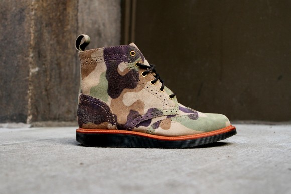Ronnie Fieg x Dr. Martens capsule camo wingtip brogue boots