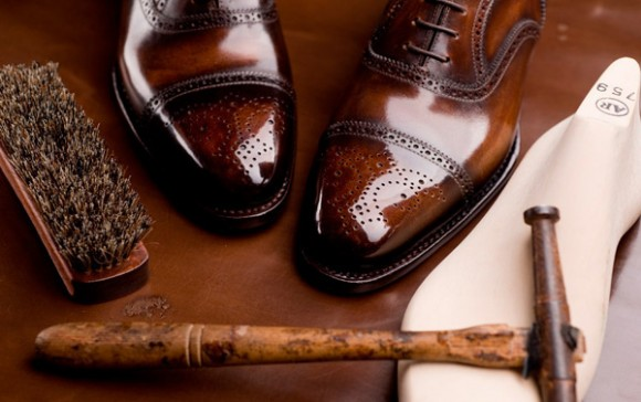 Shiny shoes, freshly polished - Allen Edmonds 'Strand'