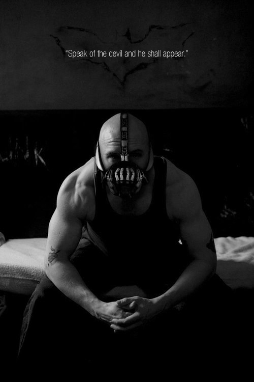Tom Hardy Bane transformation