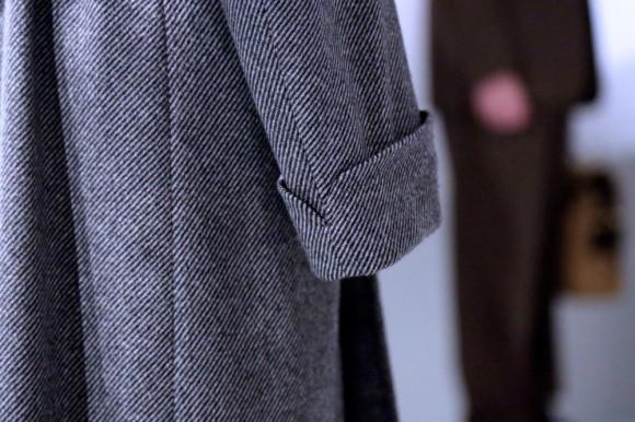 Turnback Cuff Detail On Liverano Overcoat Soletopia