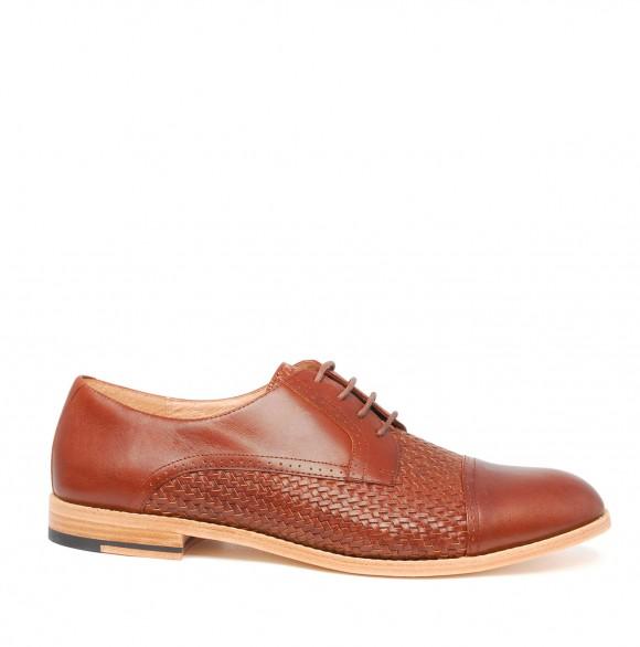 vanishing-elephant-cadmium-woven-derby-brown-dress-shoes
