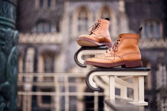wingtip dress boots, Tricker's Stow Brogue