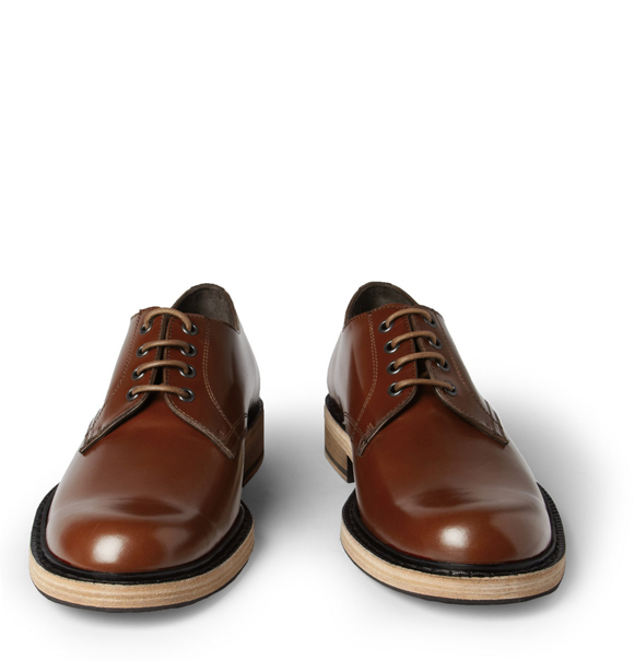 acne bleeker derby shoes new color brown soletopia