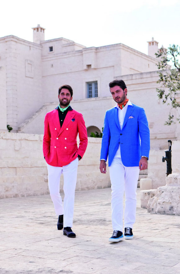 Bright suit jackets from Kiton