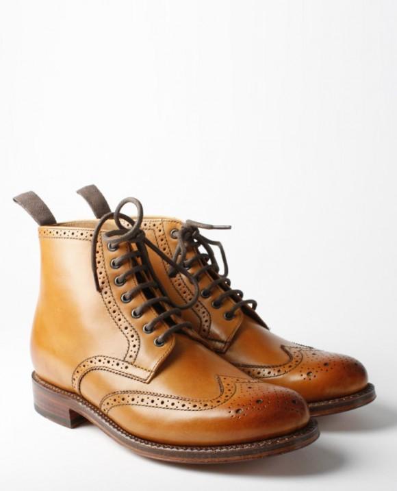 Grenson Sharp Derby Boot in tan
