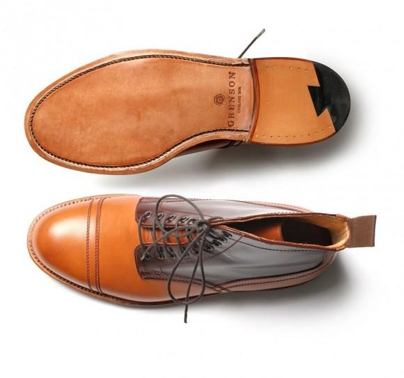 Grenson x Heritage Research cap toe Boot tan mahogany
