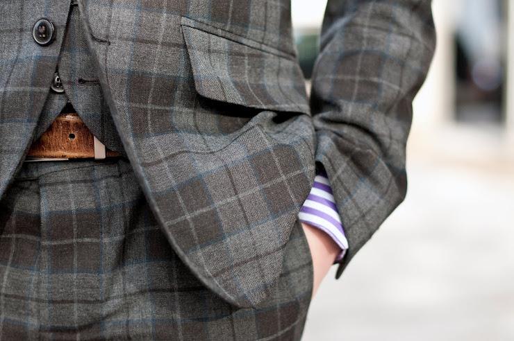 Men's Checkered Dress Pants