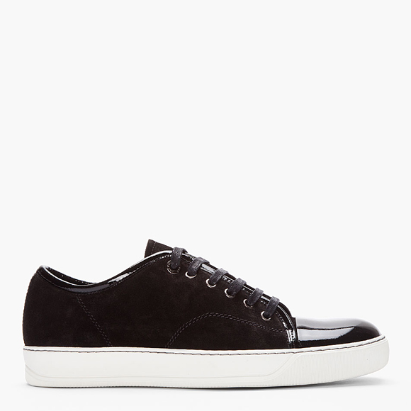 suede kicks lanvin tennis sneakers with patent cap