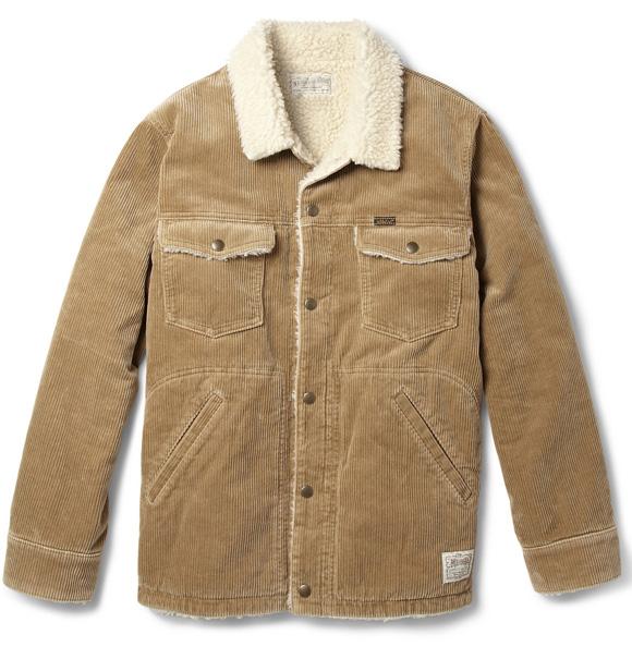 NEIGHBORHOOD Corduroy & Faux Shearling jacket