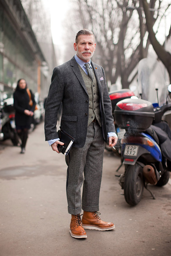 nick-wooster-in-gray-layers-and-white-sole-boots
