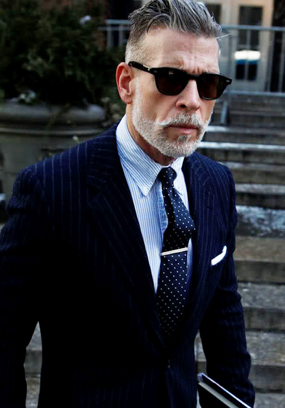 06d59a8d2748 nick-wooster-slim-fit-pinstripe-suit-navy-sunglasses-