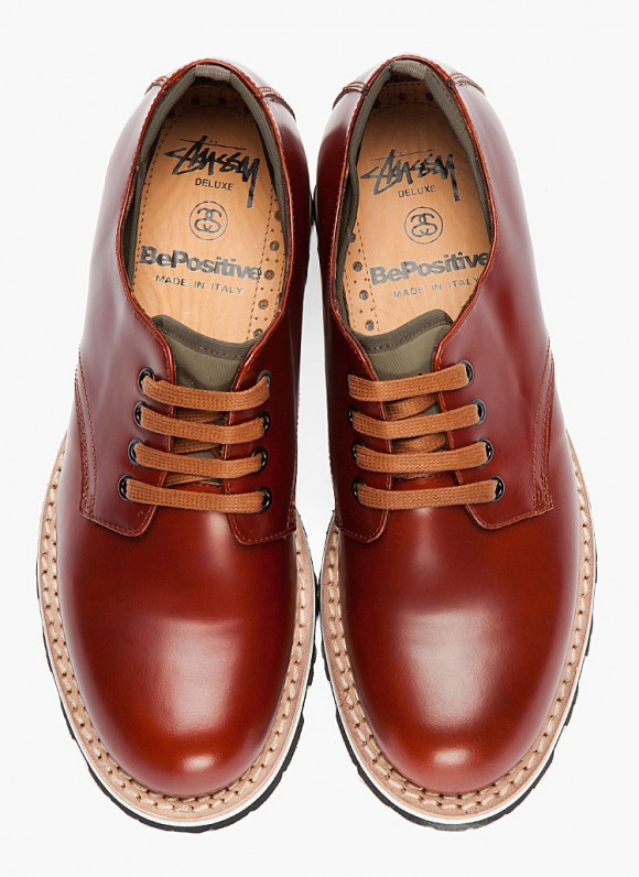 Stussy Deluxe x Be Positive brown leather Positive X Shoe