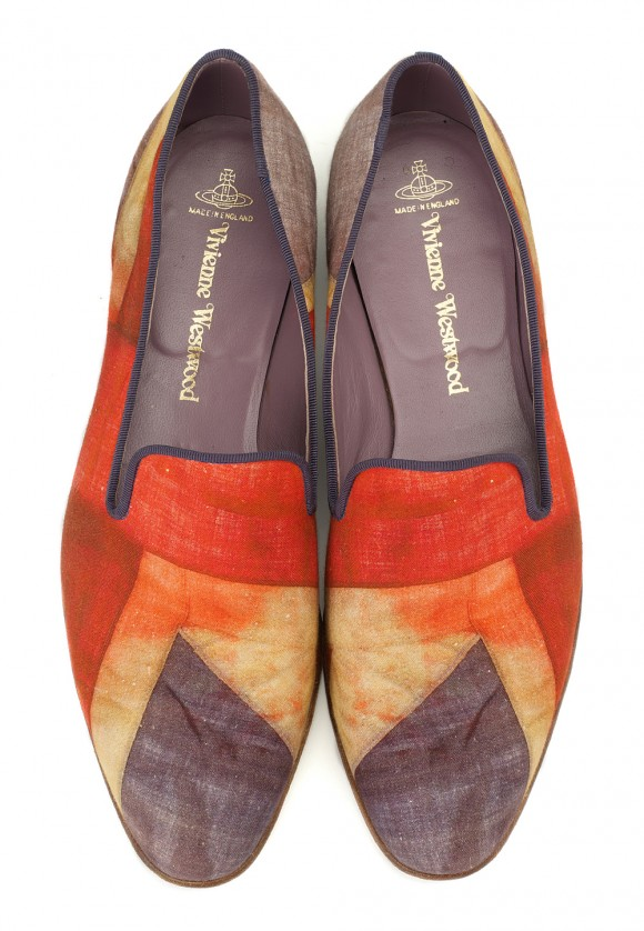 Vivienne Westwood Union Jack slippers, made in England & colorful