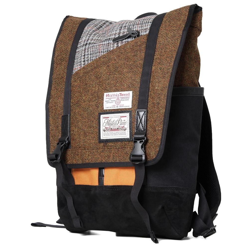 master-piece x Harris Tweed Slash Backpack (houndstooth