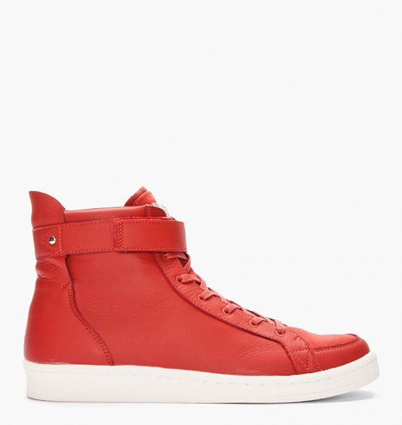 0a2c256ae0f1 adidas SLVR Red Cupsole High-Top Leather Sneakers