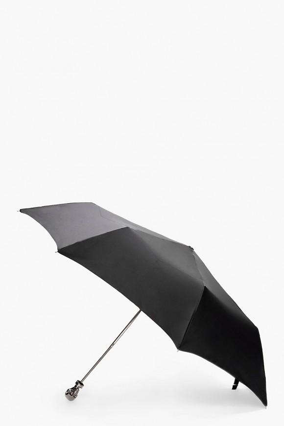 Silver Skull Umbrella
