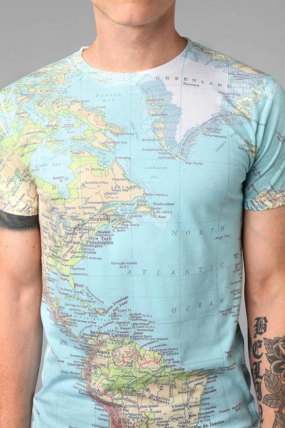 World Map T shirt