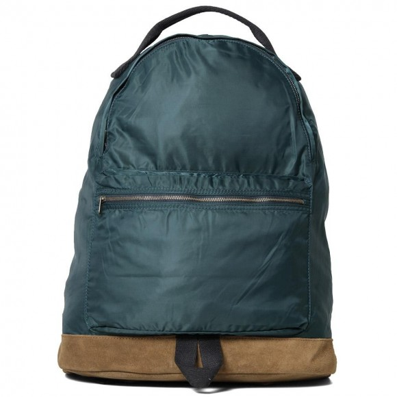 apc-backpack-dark-green-japanese-nylon-raw-leather-bottom