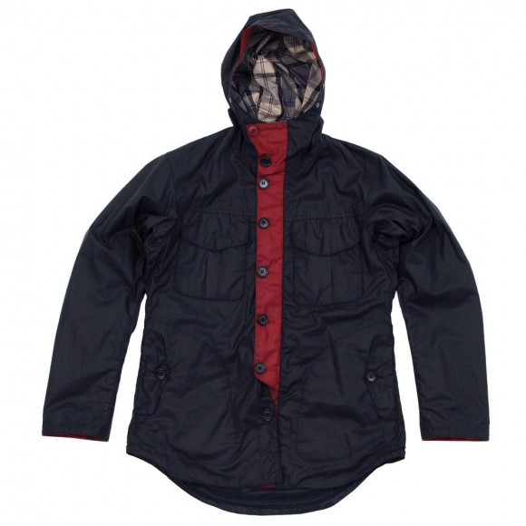 Barbour x Tokihito Yoshida Bi-Colour Jacket in Navy