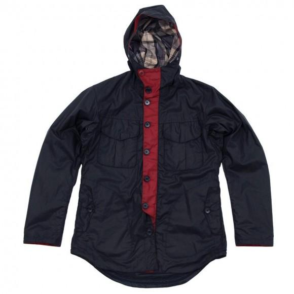 Barbour x Tokihito Yoshida Bi-Colour Jacket in Navy