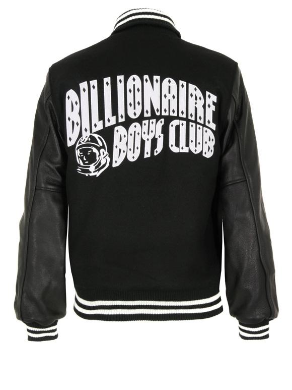 Billionaire Boys Club brings us the classic black varsity jacket with