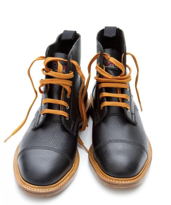 black-cap-toe-boots-woolrich-woolen-mills-pebbled-leather-orange-laces
