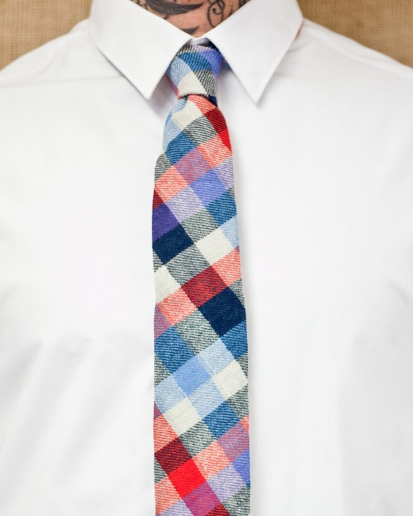 Blue Red Plaid tie from Stalward Ltd.