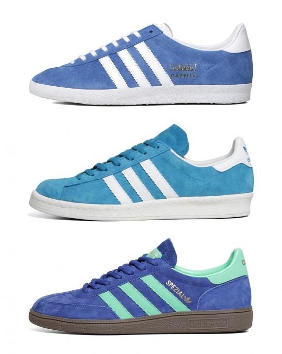 adoro le scarpe azzurre, adidas originali soletopia