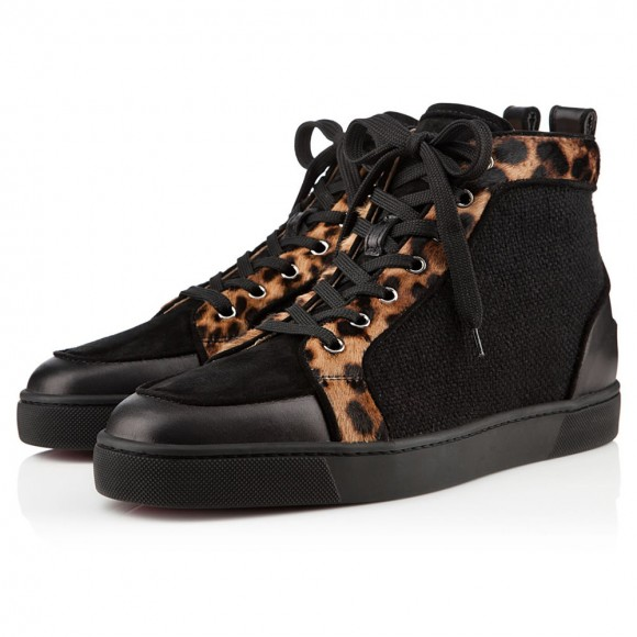 big sale 5ecce 3310f Christian Louboutin Rantus Orlato Leopard Pony Sneakers