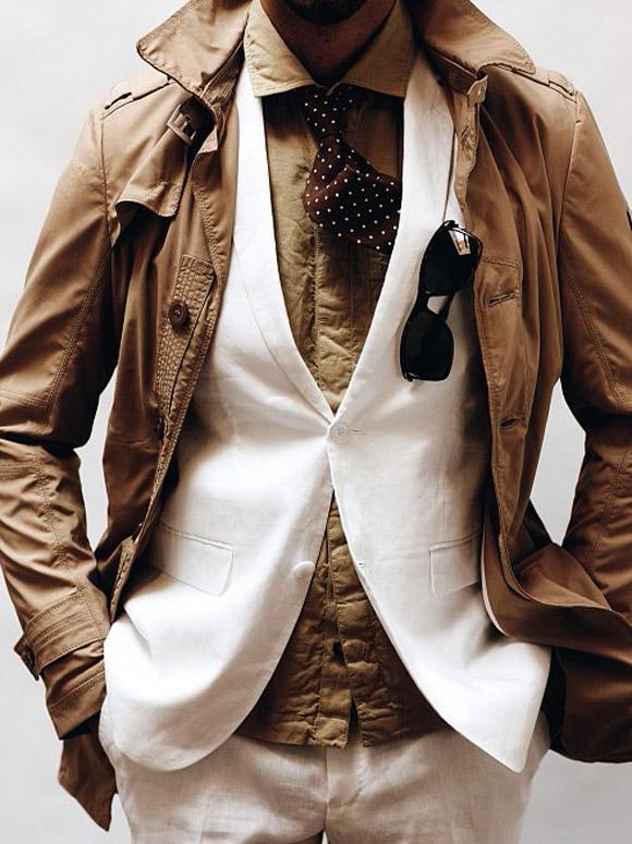 Consistent Color Scheme Layers Shirt, Tie & Blazer