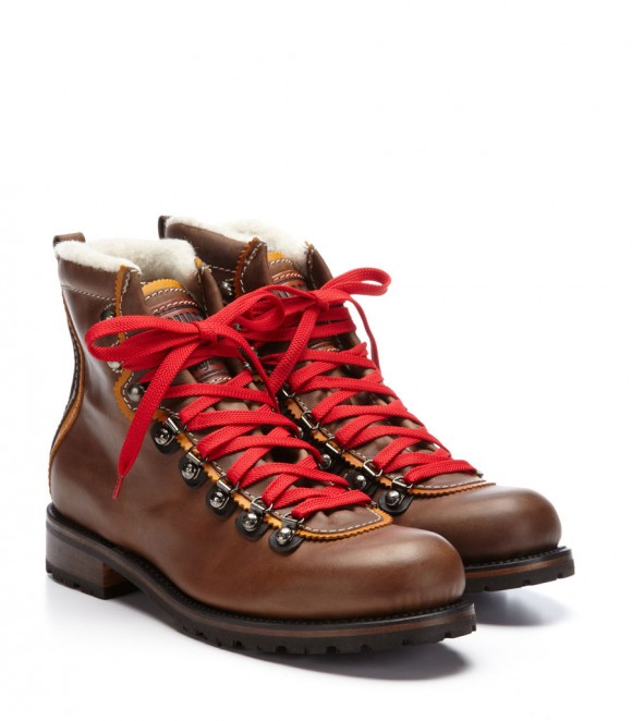 Shearling lined + Red Laces Hiking