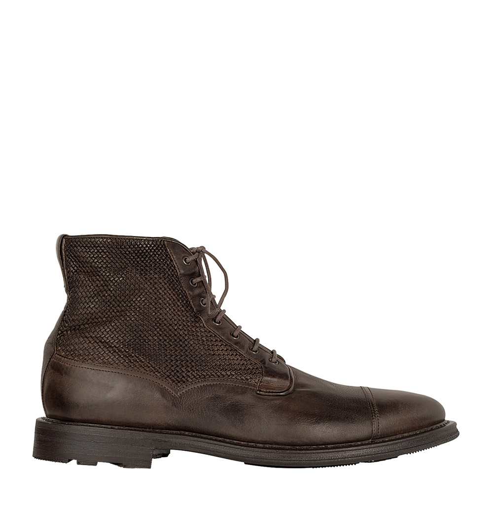 Fratelli Rossetti Leather Monk Strap Boots With Shearling