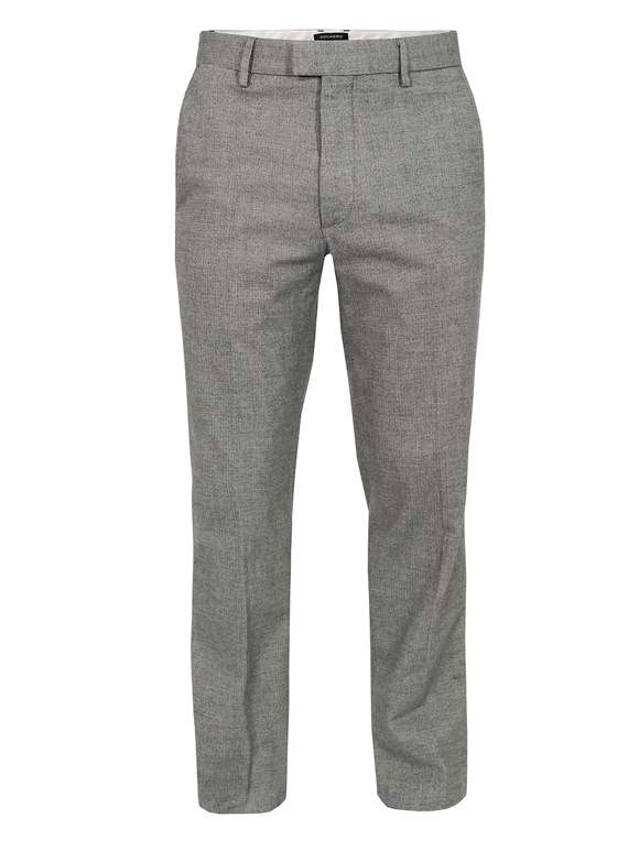 Grey herringbone dress pants, slim fit & tapered cut | SOLETOPIA