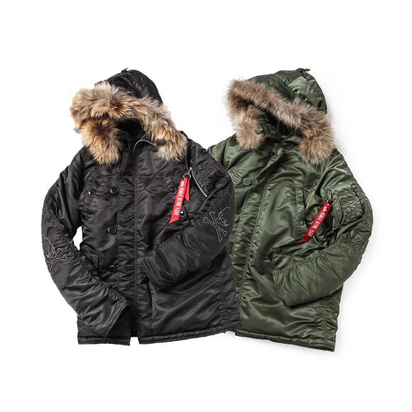 mastermind Japan x Alpha Tight N-3B hooded jacket