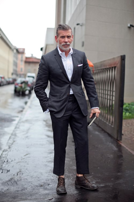 Nick Wooster Casual Suit No Tie, No Socks & Boots | SOLETOPIA