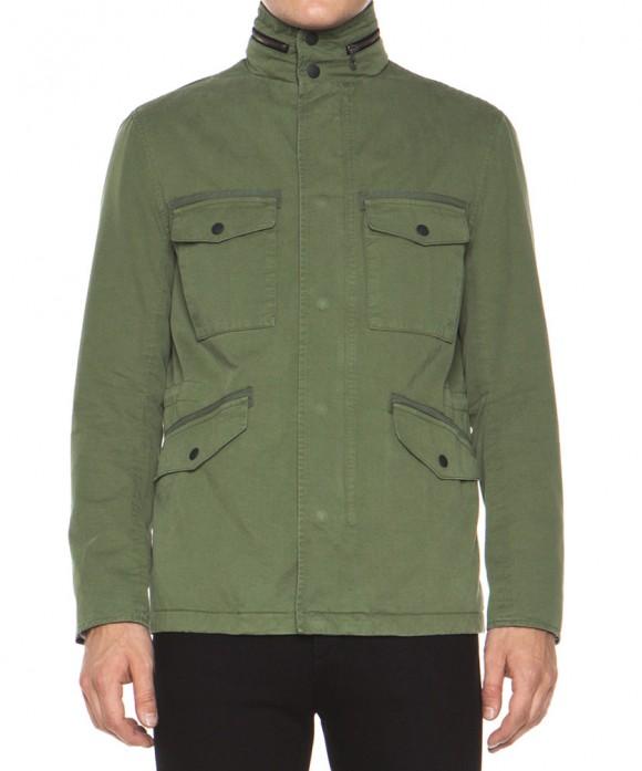rag & bone Tavistock Military Style Jacket in Olive