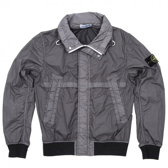 Stone Island Membrana Naval Hooded Windbreaker Jacket