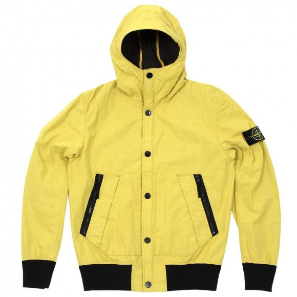Stone Island Tela Stella Hooded Jacket in yellow