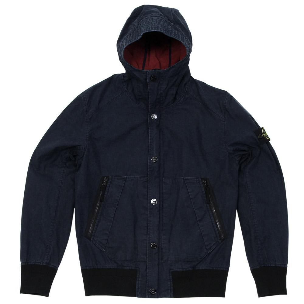 Stone Island Tela Stella Hooded Jacket in Blue
