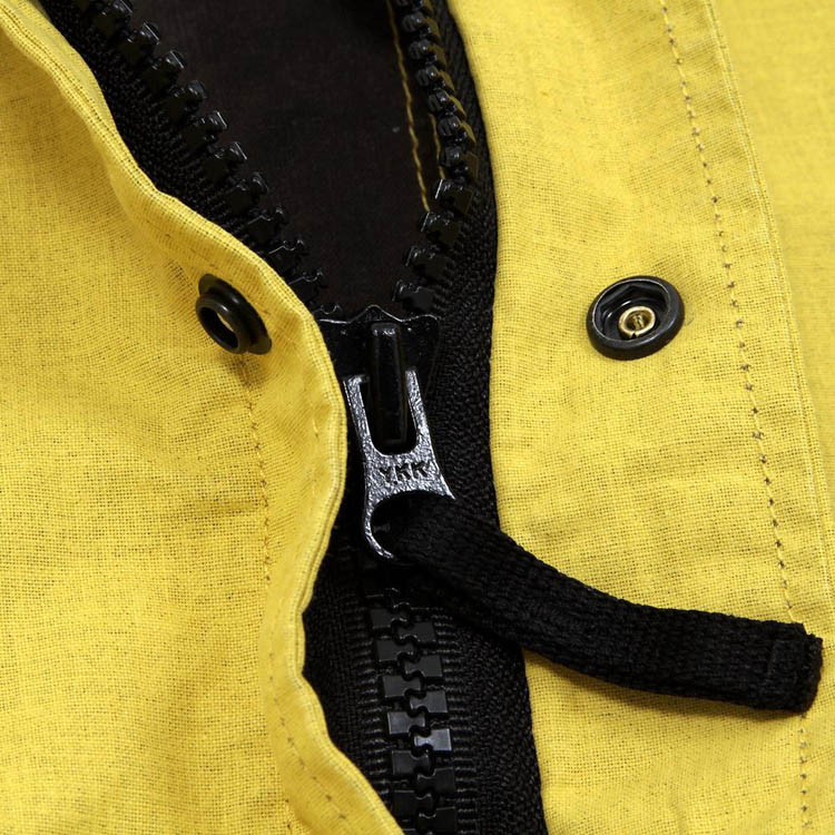 Stone Island Tela Stella Hooded Jacket in Yellow