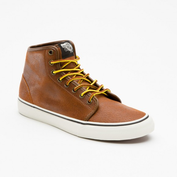 Vans Hiker 106 Hi Contrast Sole, Leather Sneakers