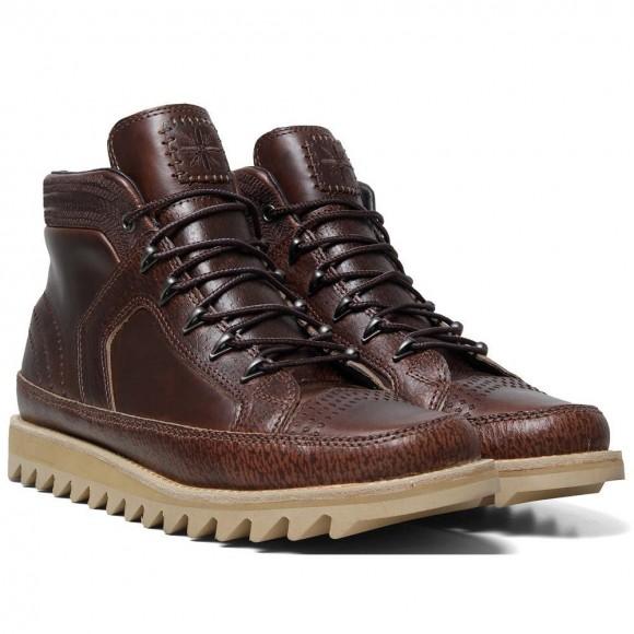 Vans Vault x Taka Hayashi Sierra Dune LX brown leather boot, ripple sole