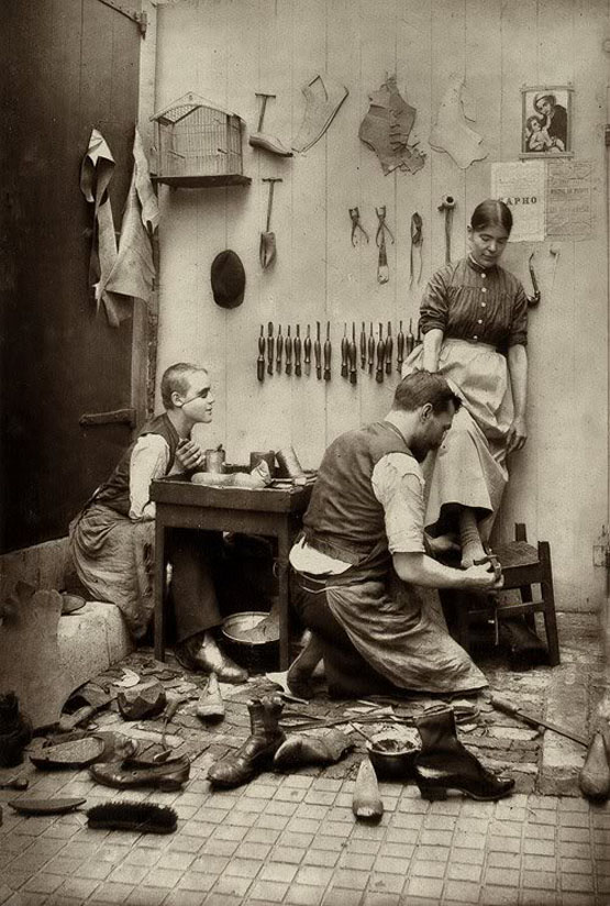 Vintage Shoemaking, Kid with an Eye patch